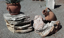 Marmor Findlinge Onyx Multicolor