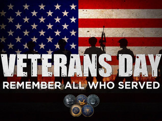 Veterans Day Celebration - November 9th