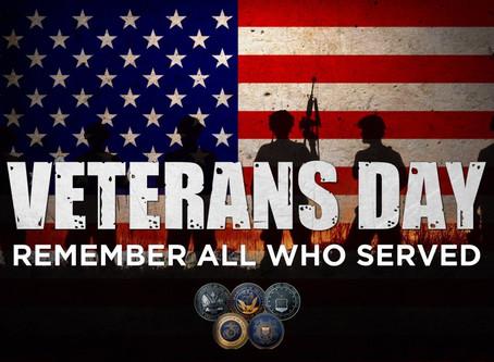 Veterans Day Celebration - November 9th