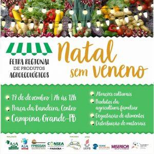 'Natal Sem Veneno' oferece produtos agroecológicos