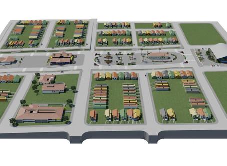 Imagens gráficas mostram novo layout da comunidade Barra de Santana