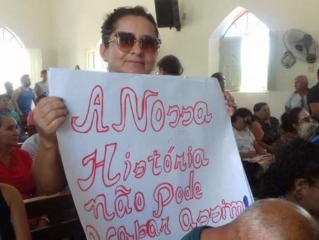 Famílias de Barra de Santana entregam documento reivindicatório à Governadora
