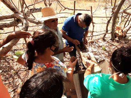 """Seapac e parceiros realizam """"Dia de Partilha"""" com famílias acompanhadas em Lajes Pintadas-RN"""