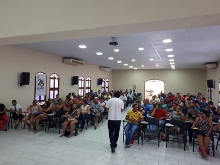Famílias que conquistaram cisternas participam da capacitação em GRH
