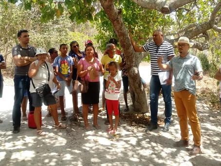 Famílias de Lajes Pintadas recebem visita de famílias de Taipu