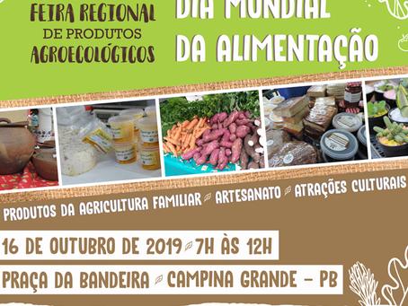 Campina Grande comemora Dia Mundial da Alimentação com Feira Agroecológica
