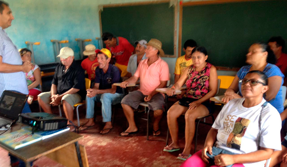 Reunião com comunidades do município de Lajes Pintadas e Serra Caiada/RN
