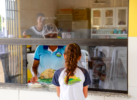 Com recursos do PNAE, famílias dos 215mil alunos matriculados recebem 388 toneladas de alimentos