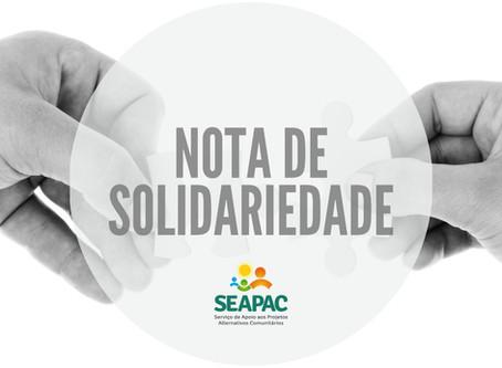 Em nota solidária, Seapac renova seu compromisso de seguir lutando pela promoção da dignidade humana