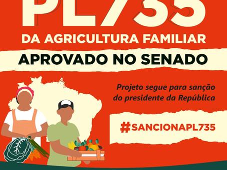 Por unanimidade, Senado Federal aprova PL da Agricultura Familiar