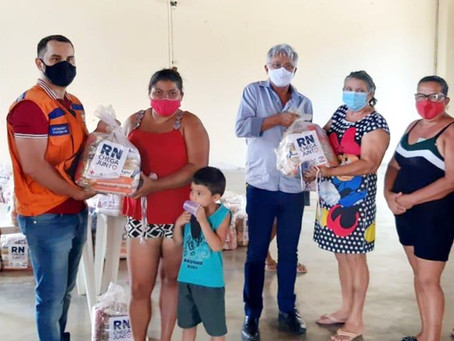 """Projeto """"RN CHEGA JUNTO"""", beneficia famílias da comunidade Barra de Santana"""