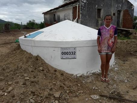Cisternas de Parelhas acumularão mais de 1,5 milhão de litros d'água