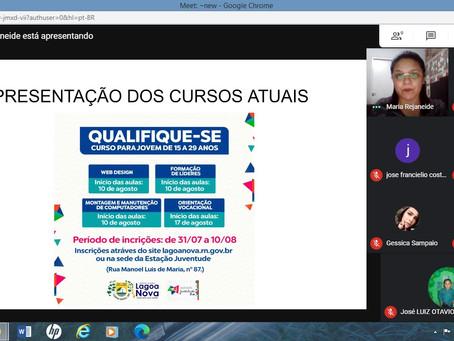 Reunião virtual com jovens lideranças rurais de Lagoa Nova-RN aconteceu na noite de ontem (05/08)