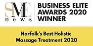 Norfolks Best Holistic Massage Award