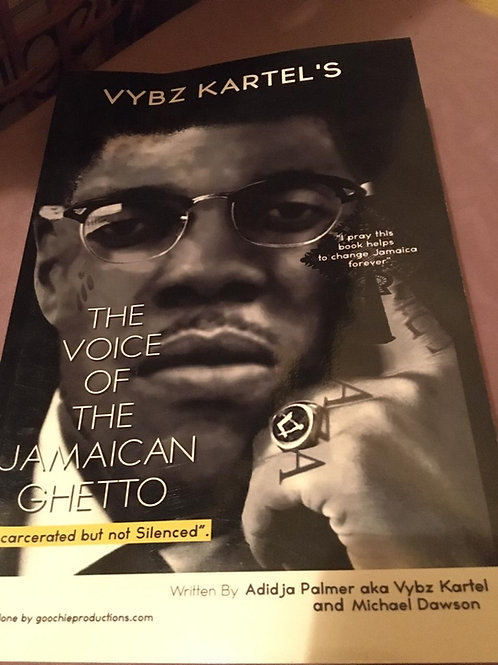 "VYBZ KARTEL'S ""THE VOICE OF THE JAMAICAN GHETTO"" (paperback - book)"