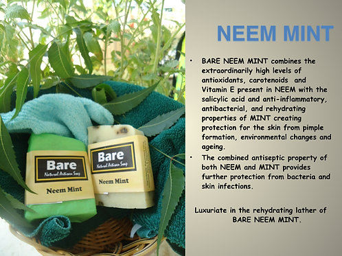 Bare Jamaican Natural Soap - Neem Mint