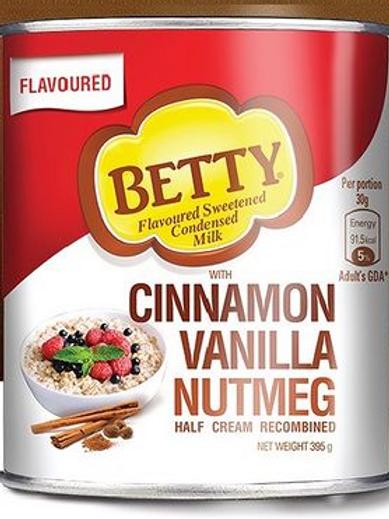 BETTY Flavoured Condensed Milk (Cinnamon,Vanilla,Nutmeg)