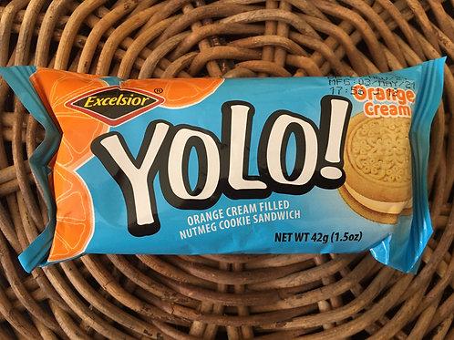 YOLO ! Orange Cream Nutmeg Cookie 42g x 2