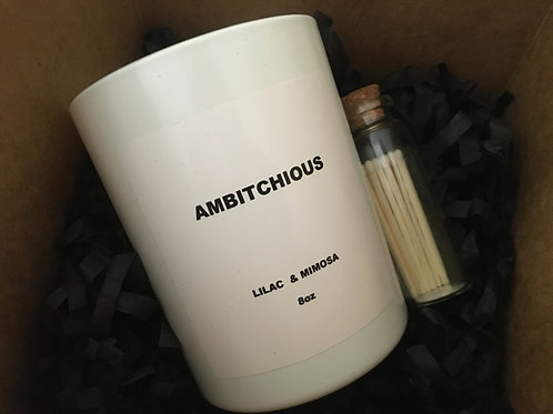 AMBITCHIOUS (Lilac & Mimosa) - Scentsory - 8oz candle