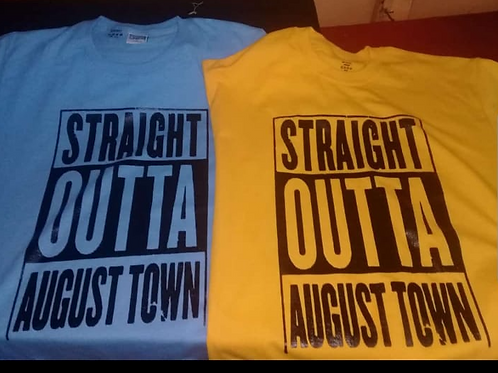 STRAIGHT OUTTA AUGUST TOWN Tshirts (Orange)