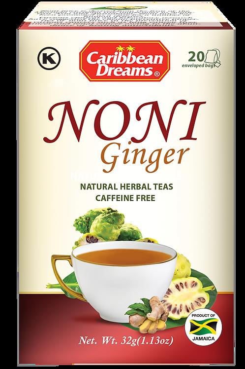 Caribbean Dreams Noni Ginger Tea Bags