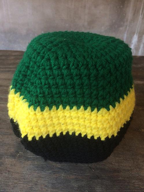 Jamaica Flag colour tam 2 - hand knit by Rasta Queen Marva-G