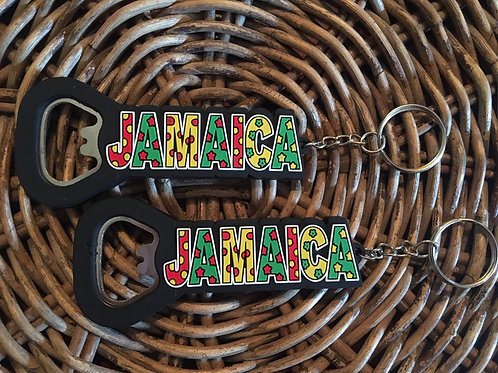 JAMAICA bottle opener key ring