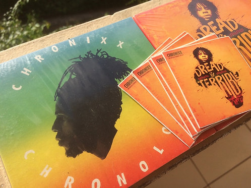 Chronixx Dread & Terrible CD + Sticker (Chronixx official merchandise)