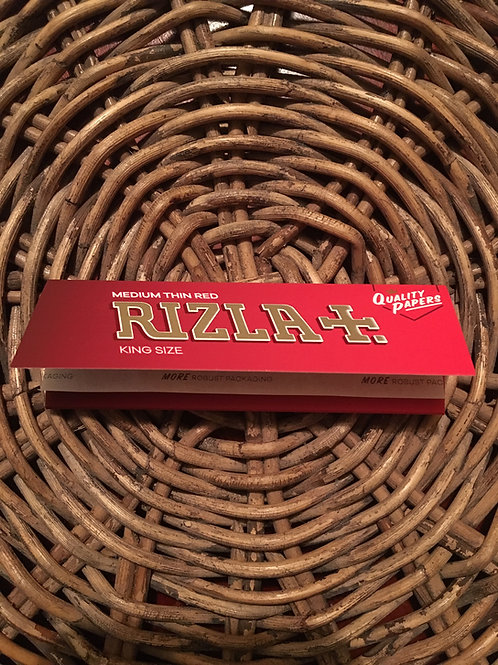 2019 new RIZLA - Medium Thin Red Rizla King Size