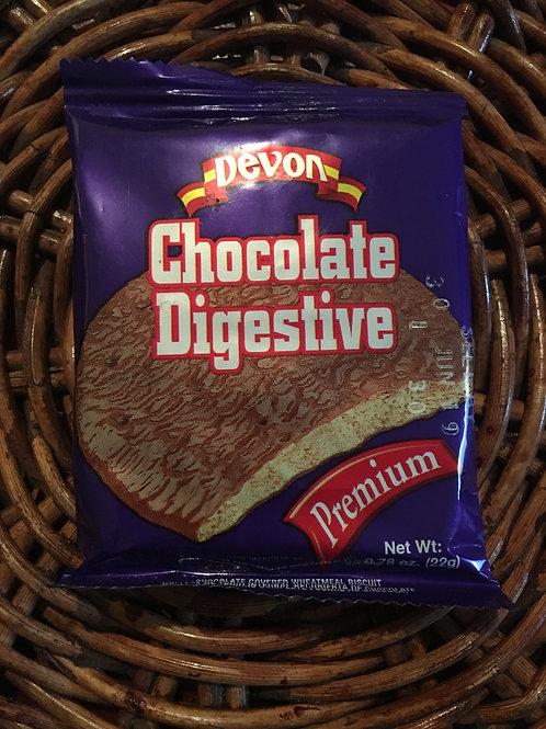 Devon Chocolate Digestive biscuit 1 set (22g x 4packs)