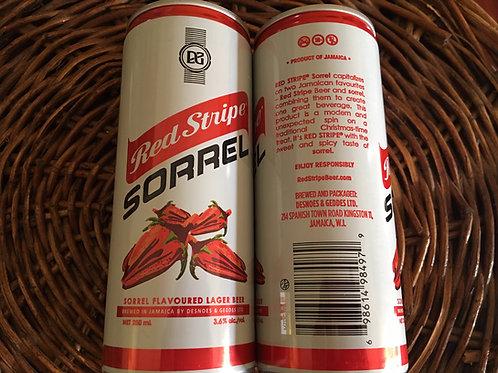 Red Stripe SORREL in can - Sorrel Flavoured Lager Beer (250ml)
