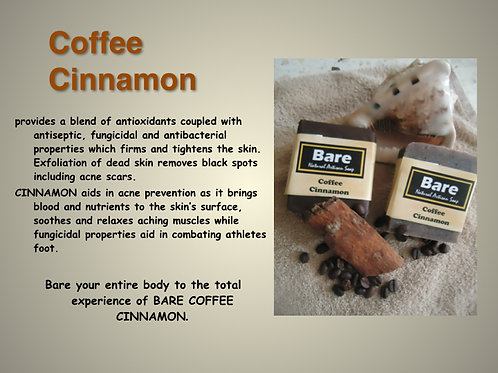 Bare Jamaican Natural Soap - Coffee Cinnamon