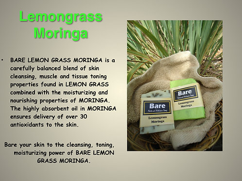 Bare Jamaican Natural Soap - Lemongrass Moringa
