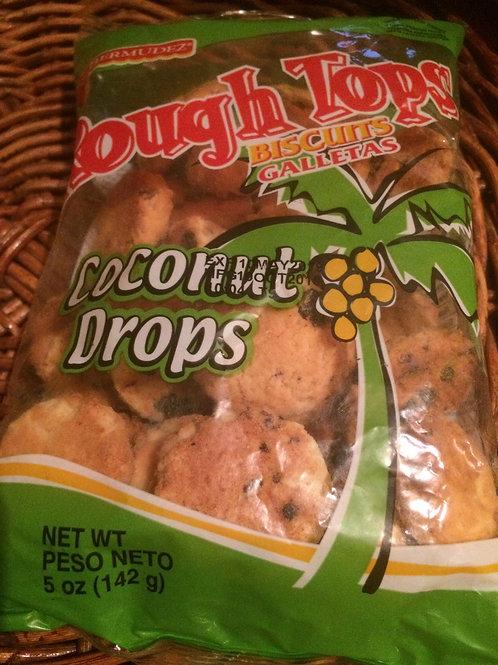 Rough Tops Biscuits Coconut Drops (Coconut & Raisin) 1 set