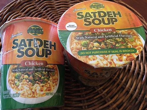 SATDEH SOUP (Jamaican Seasoning CUP NOODLE) 65g