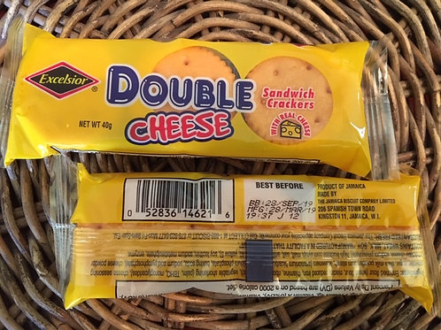 Excelsior DOUBLE CHEESE Sandwich Crackers 40g x 2