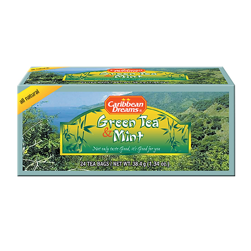 Caribbean Dreams - Green Tea & Mint (24 tea bags)