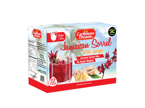 Caribbean Dreams - Jamaican Sorrel with Ginger Instant Drink Mix