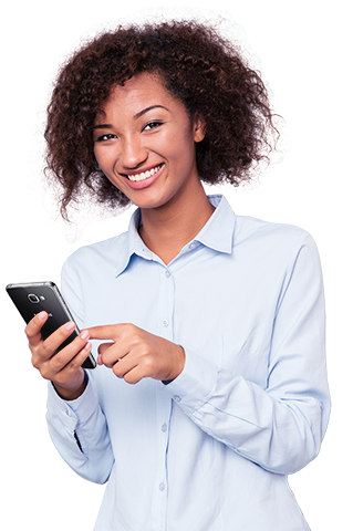 afro-american-woman-using-smartphone-and