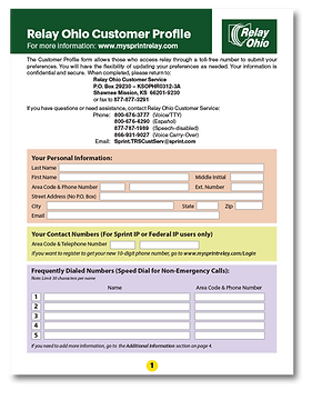 customer profile form