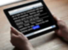 RCC on tablet screen