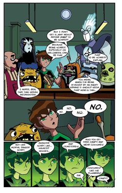 Ben 10 comic page