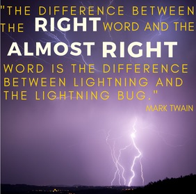 The right words married to the right graphics have power!
