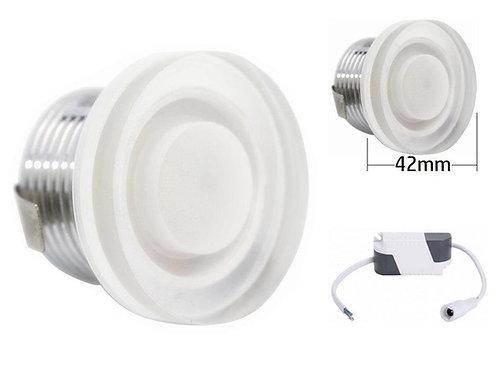 Downlight mini foco led cristal 3w