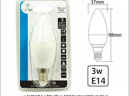 Bombilla led 3w vela