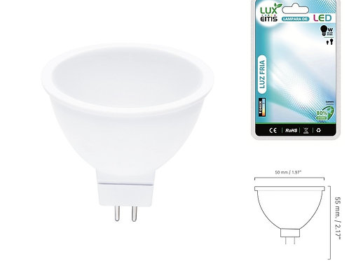 Bombilla dicroica led 3w Mr16 120º