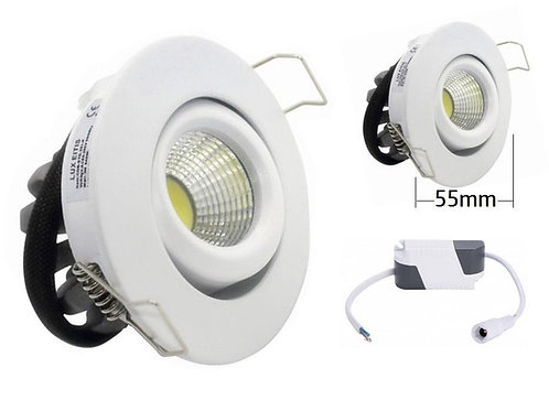 Downlight mini foco led orientable 3w