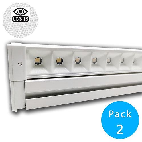 Barra LED 28W Lineal HALLE DYNAMICS UGR19 para Techos tecnicos - Pack 2 unidades
