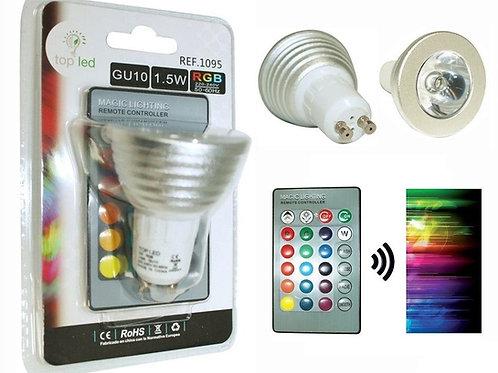 Bombilla dicroica led 3w GU10 RGB