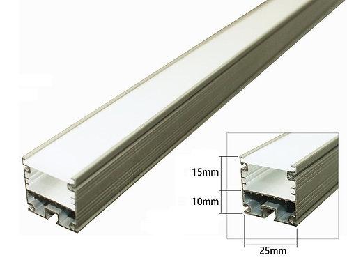 Perfil de sobreponer aluminio